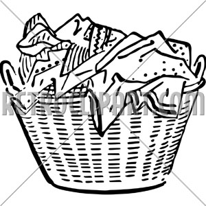 Basket clipart laundry basket. Retroclipart com