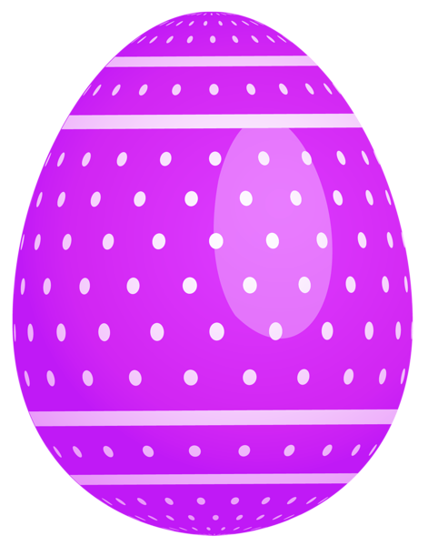 Easter egg designs png. Purple dotted clipart eggs