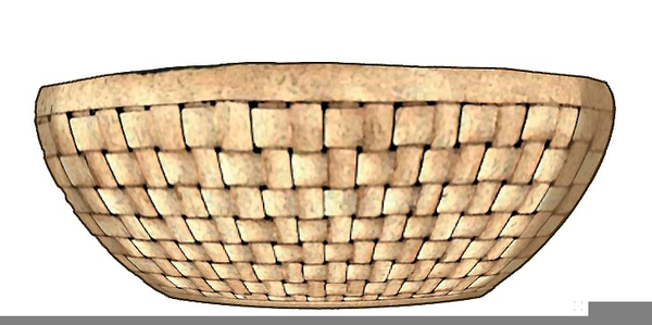Bowl clipart basket. Woven free images at