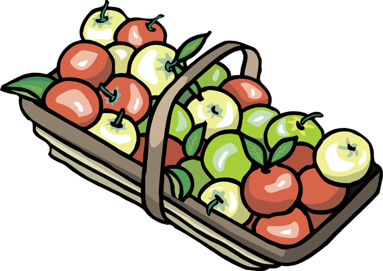 Basket of apples clipart png. Collection apple high