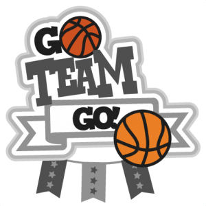 Go clip team. Basketball svg scrapbook title