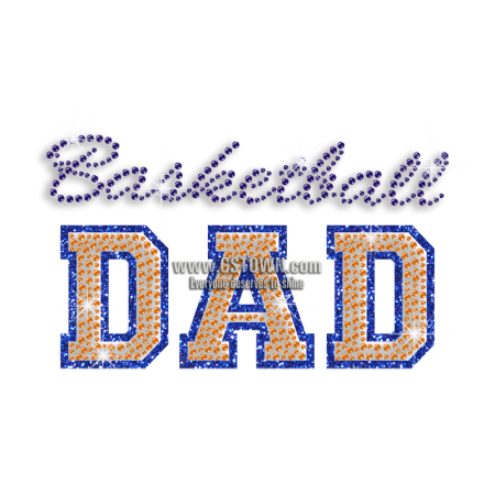 Basketball dad png. Cool iron on rhinestone