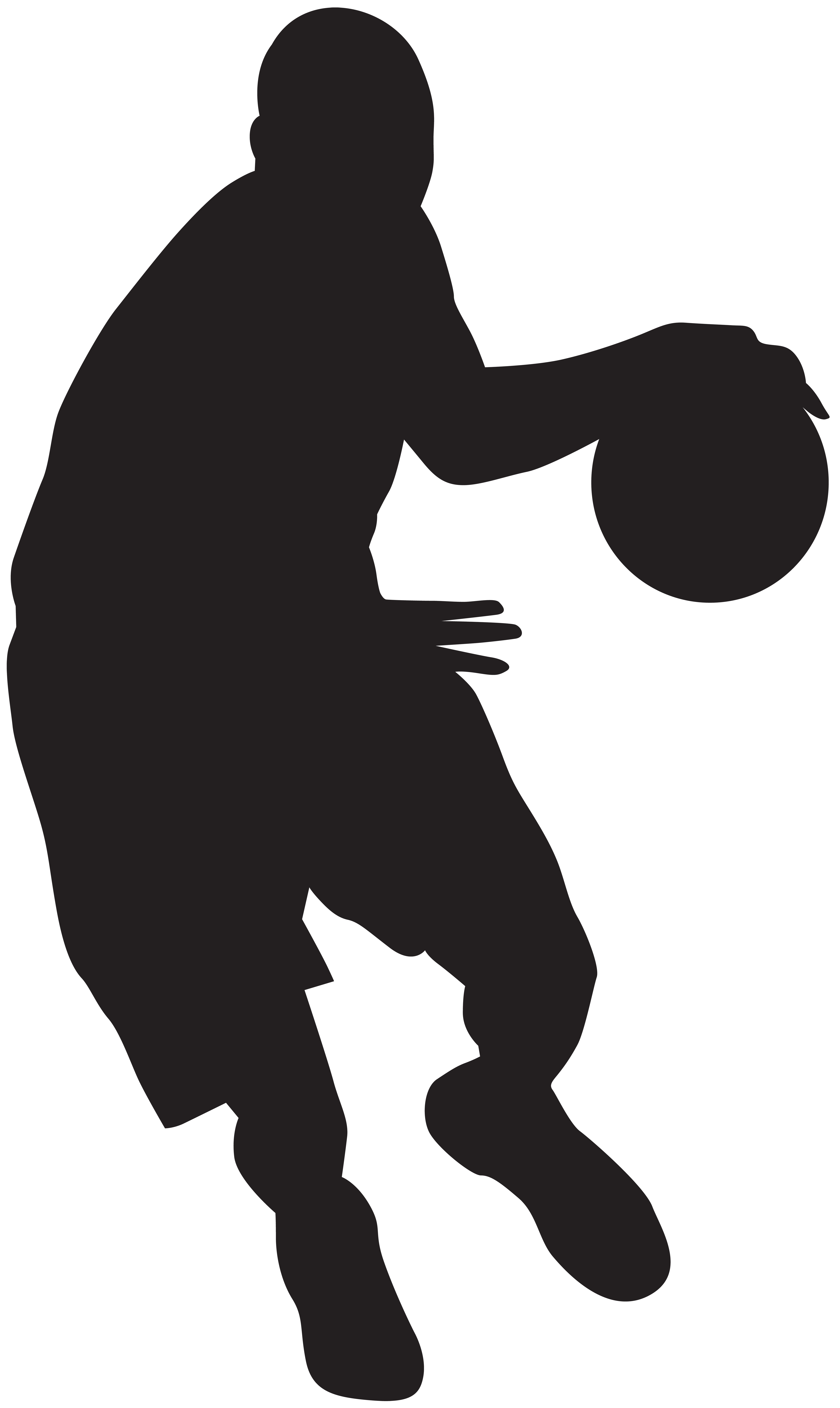 Basketball player silhouette png. Clip art image gallery