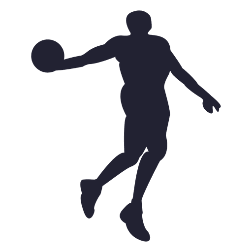 Basketball player silhouette png. Transparent svg vector