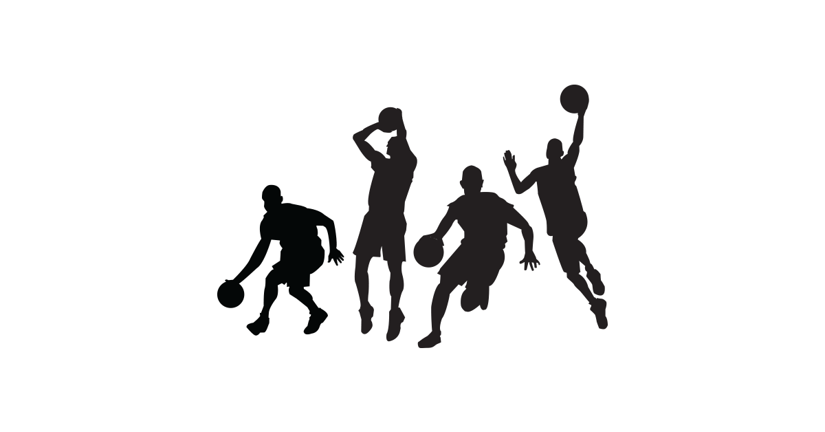 Basketball silhouette png. Girl playing at getdrawings