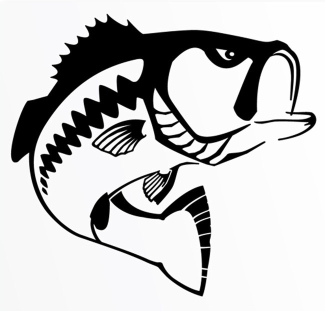 Black . Bass clipart png library