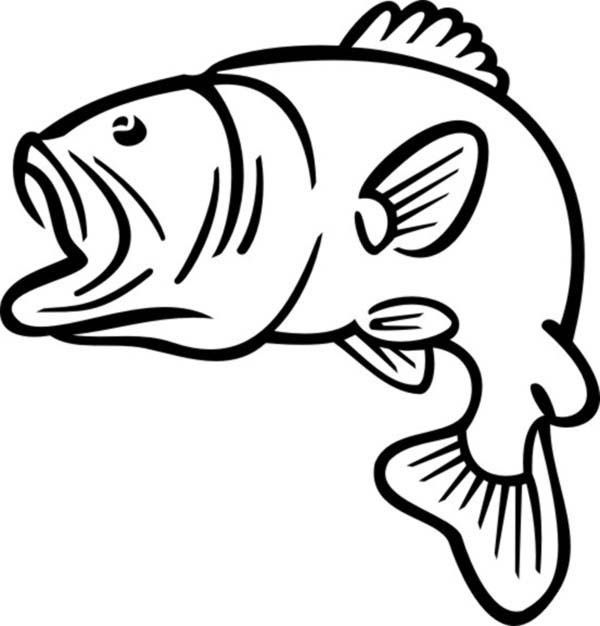 Bass clipart. Fish silhouette at getdrawings