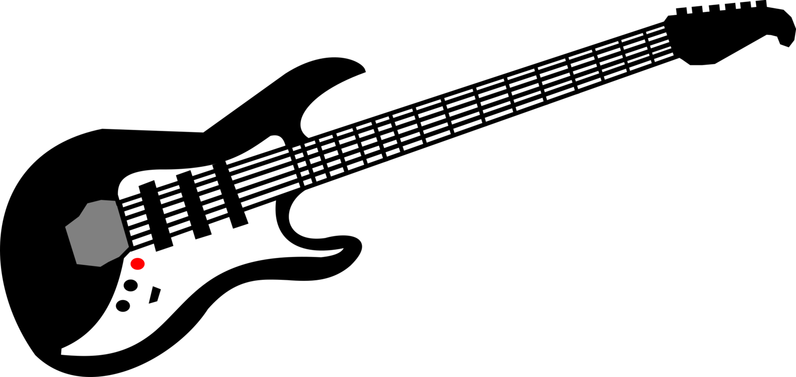 Acoustic clipart. Electric guitar bass music