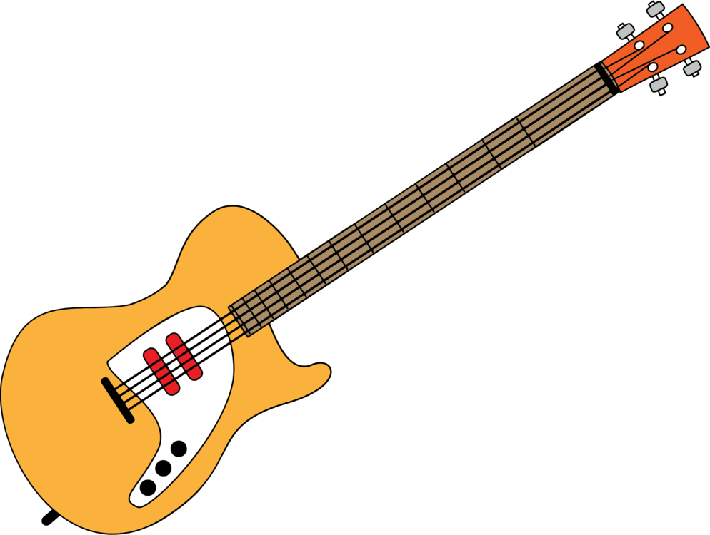 Acoustic clipart. Bass guitar electric music