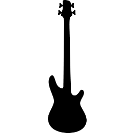 Bass clipart svg. Free guitar silhouette silhouettes