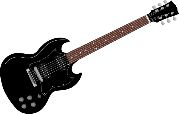 Drawing guitar rock. Outline clip art clipart