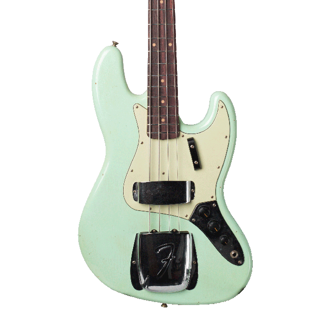 Bass transparent small mouse. Fender custom shop jazz