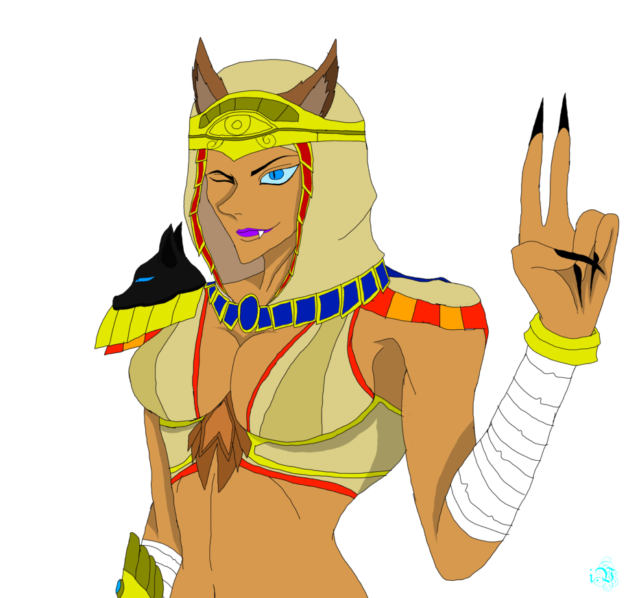 Bastet drawing. Day by the ice