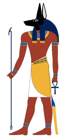 Bastet drawing anubis mask. Wikipedia