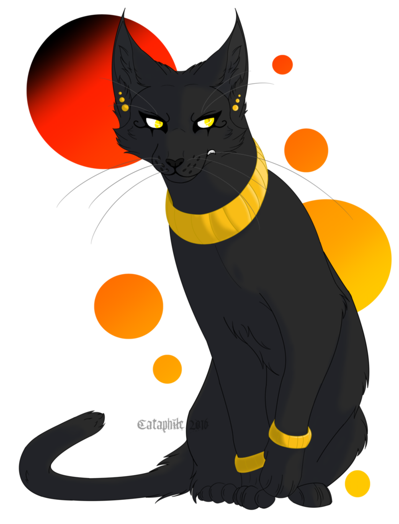 Bastet drawing background. Art trade by cataphile