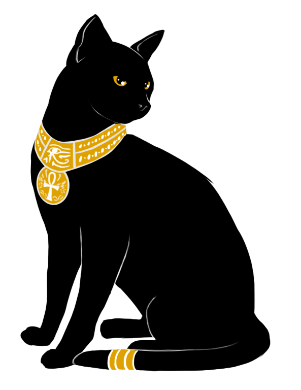 I would redraw this. Bastet drawing art svg royalty free stock