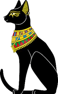 Bastet drawing egyptian animal. Information history facts and