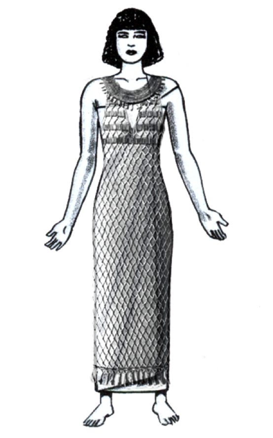 Bastet drawing egyptian dress. Ancient sheath was a