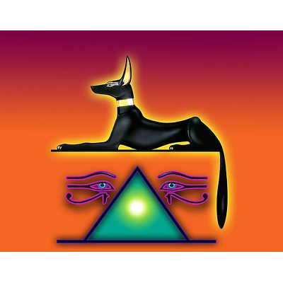 Africa african ancient anubis. Isis drawing egyptian sphinx vector royalty free stock