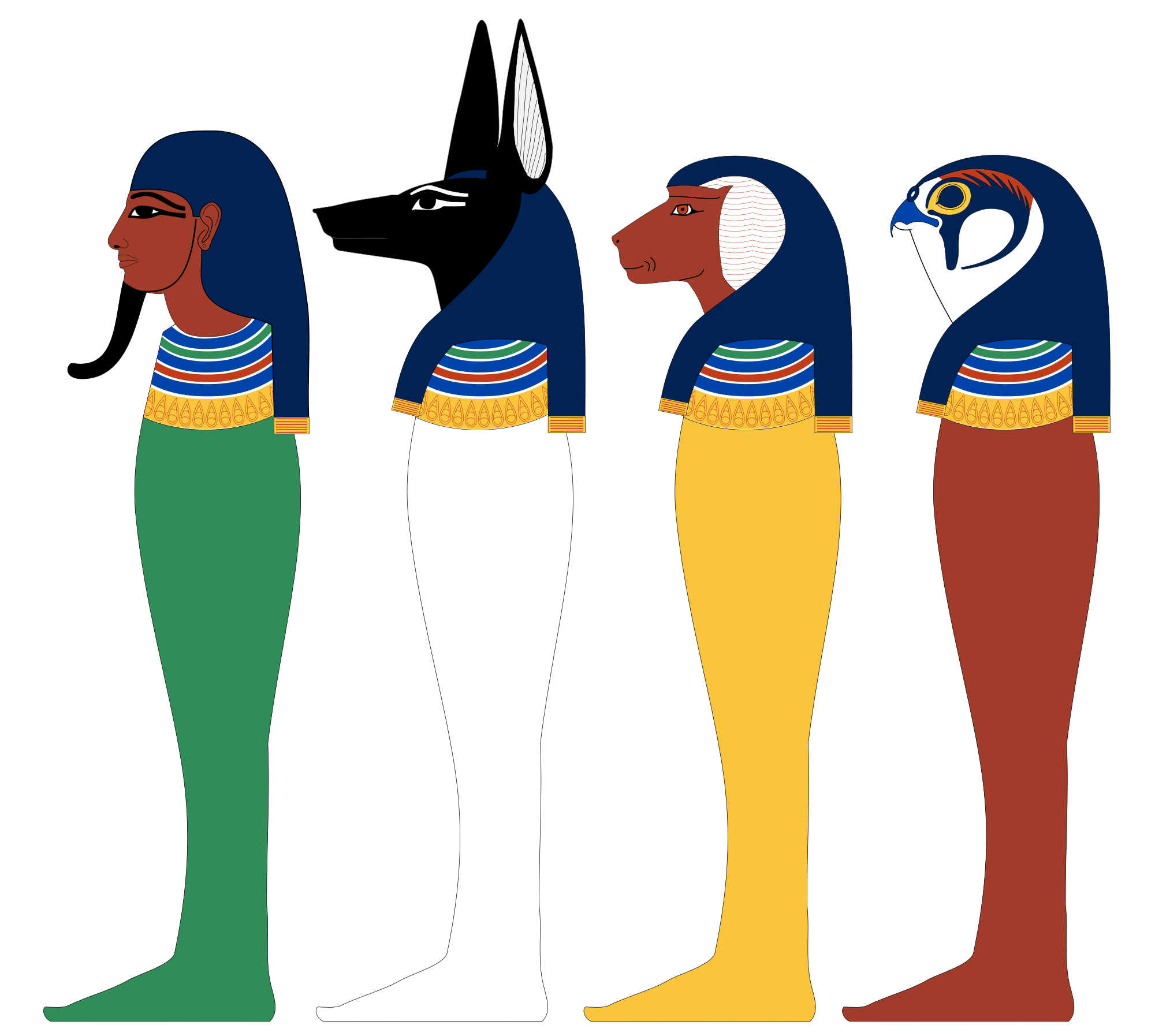 Bastet drawing horus. Four sons of wikipedia