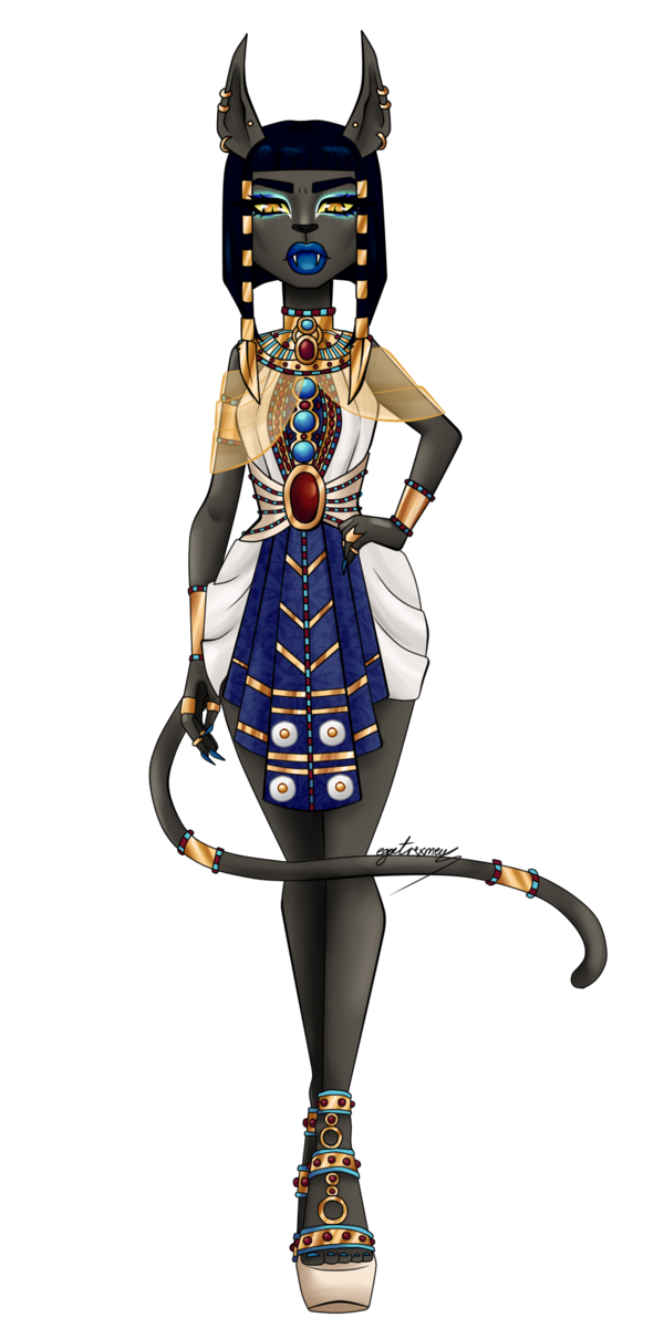 Bastet drawing simple. Mh rania by egoetrexmeus