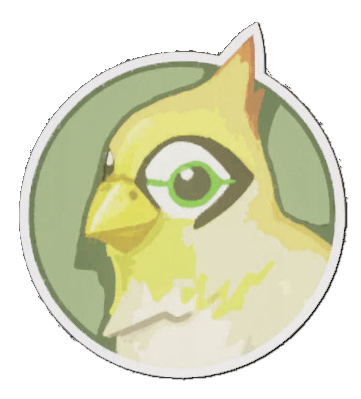 Bastion drawing bird. Image spray ganymede png