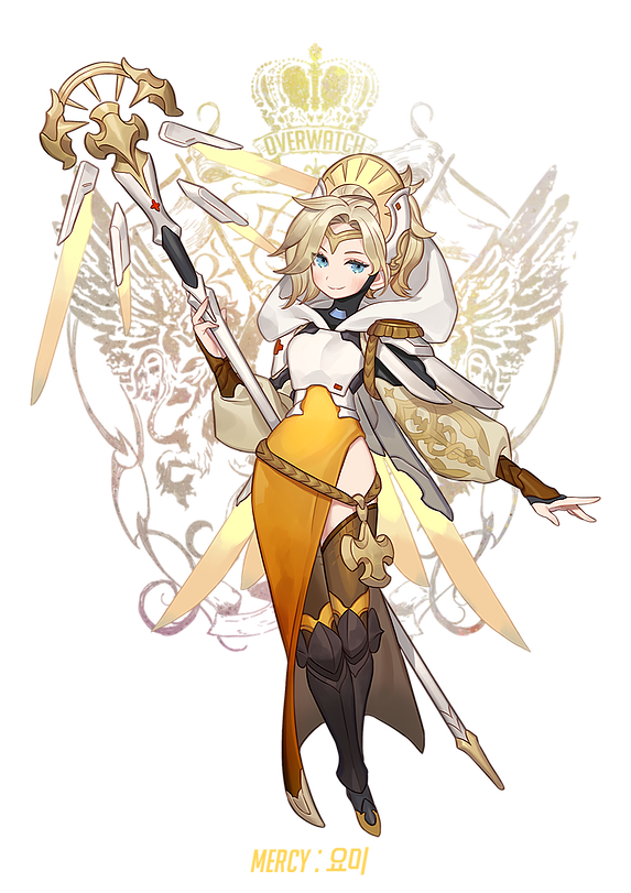 Soul transparent overwatch mercy. Owfantasia character fantasy pinterest