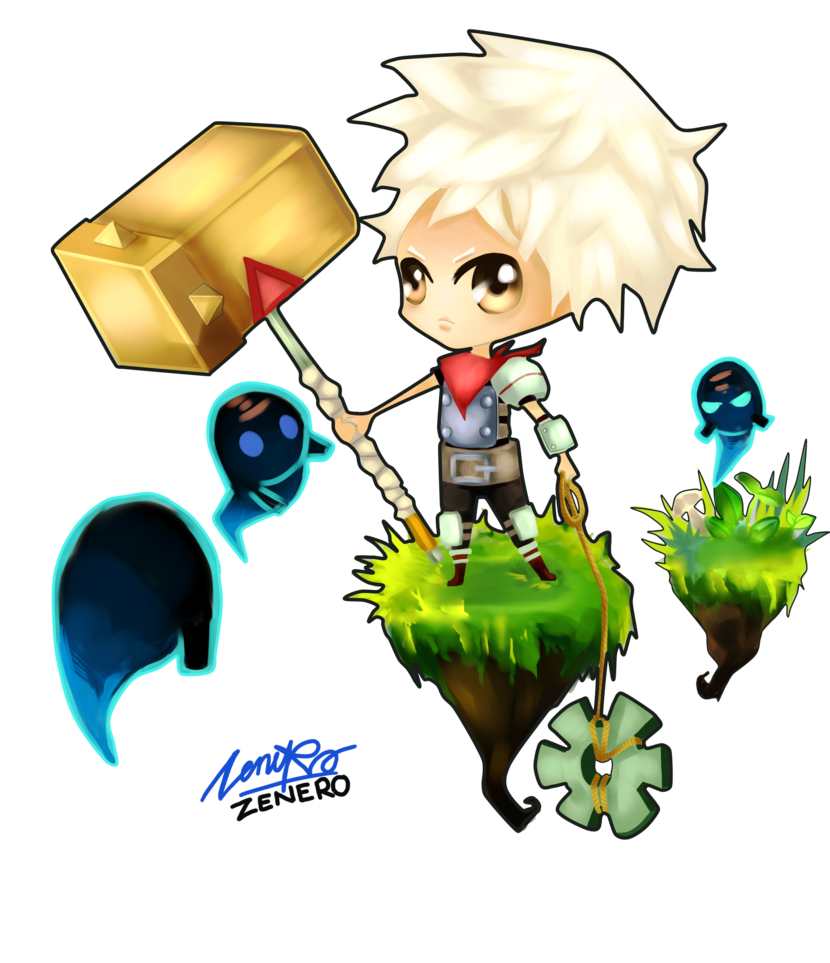 Bastion drawing chibi. The kid no background