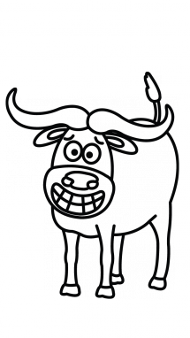 Numbers drawing cow. Simple at getdrawings com