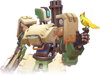 Bastion drawing bird. Overwatch damage a to