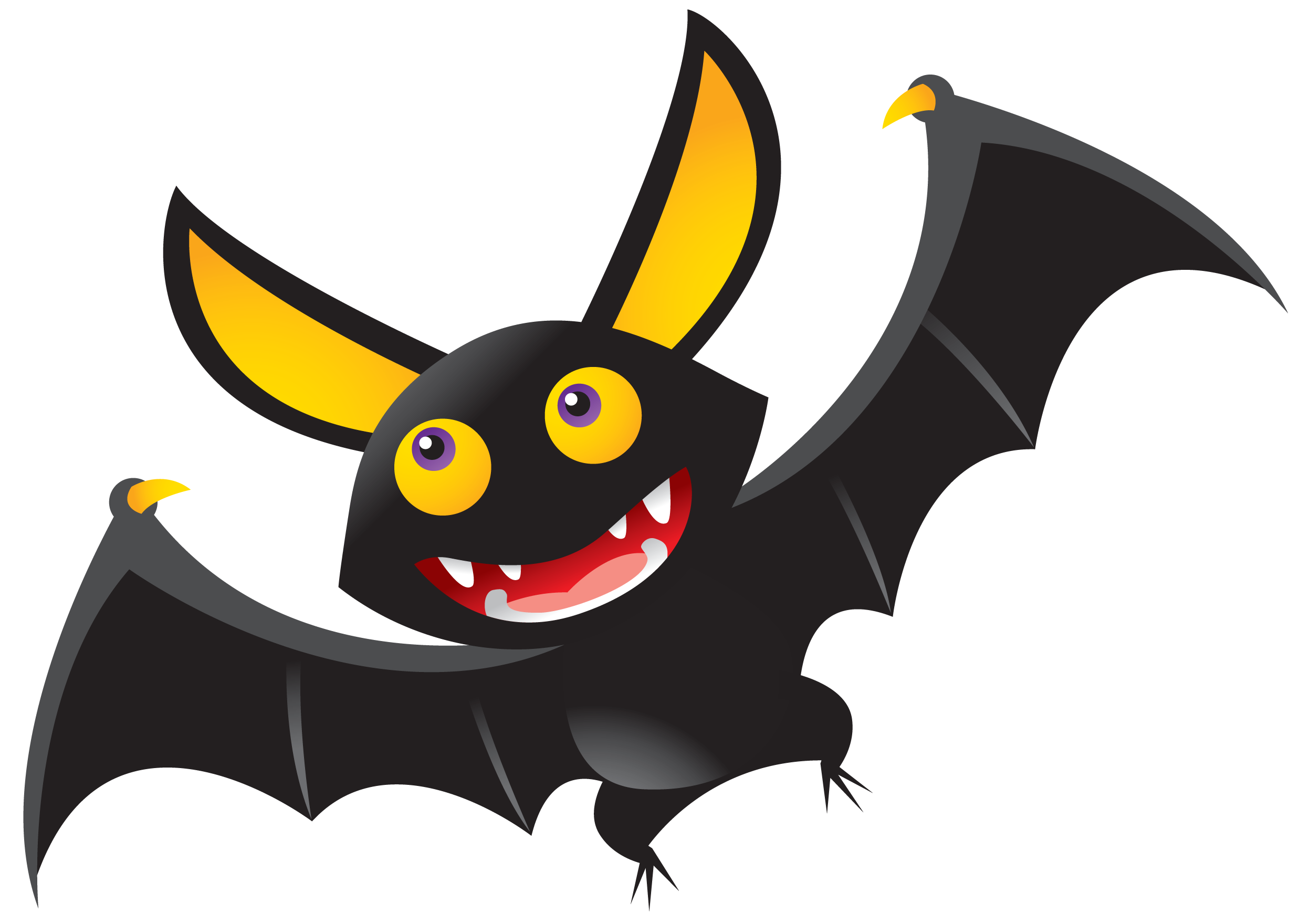 bat clipart childrens