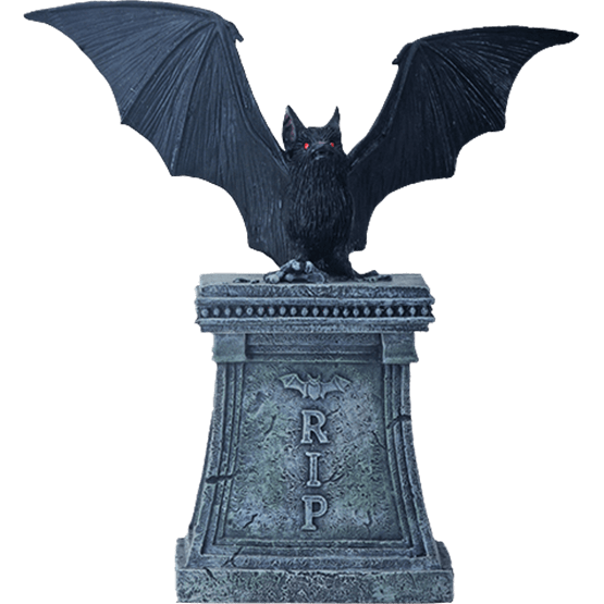Bat statue png. Gothic graveyard sc from