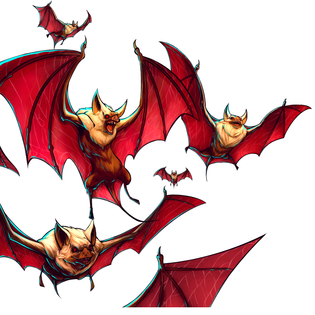 Bat Swarm Transparent & PNG Clipart Free Download - YA-webdesign