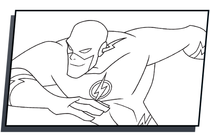 dc drawing the flash