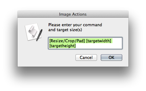 Batch resize png. Applescript to quickly crop