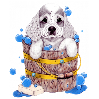 Yorkie clipart bath. Dog cartoon funny clip