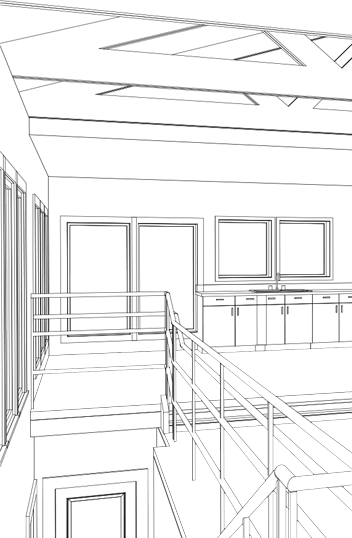 Cad perspictive csi kitchen. Drawing bathroom remodel jpg black and white library