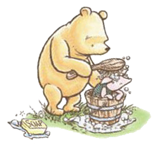 Bath drawing christopher robin. Winnie the pooh classic