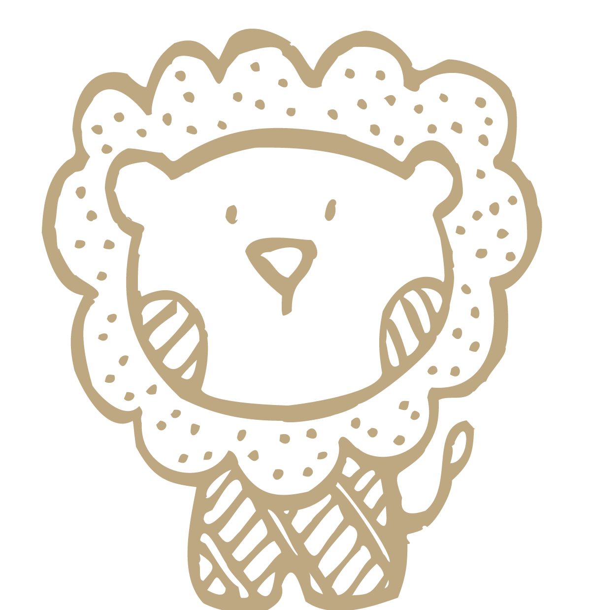 Lion little transprent png. Flour drawing cute image free library
