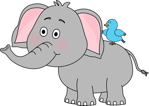 Growth drawing elephant. Cute clip art and