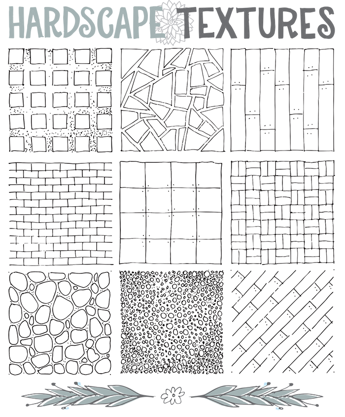 Oct ground textures landscape. Old drawing architectural svg free