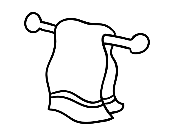 Towel vector sketch. Collection of drawing