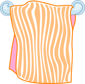 Towel vector folded. Bath orange clip art