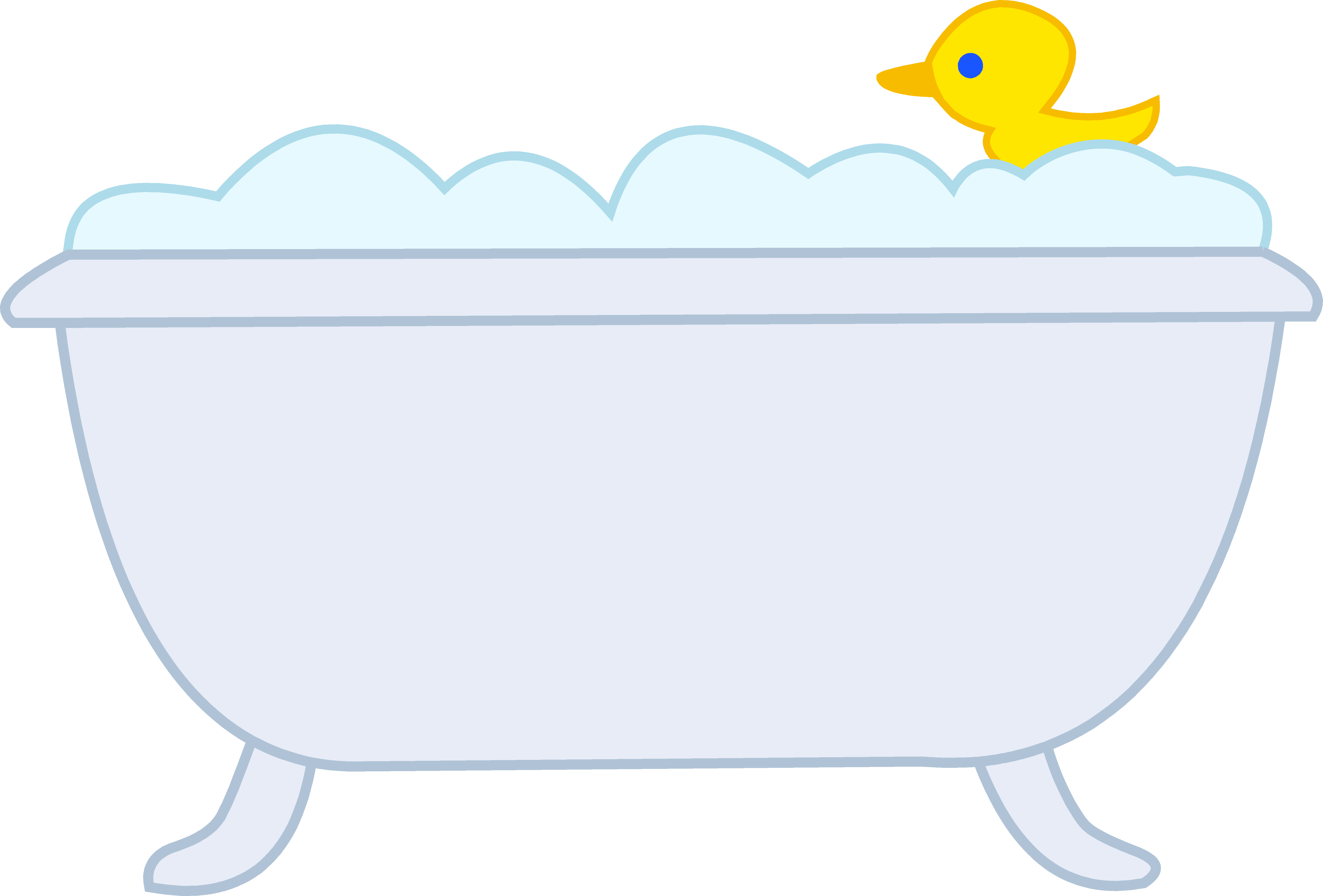 Bathing clipart bubbly. Bubble bath with rubber