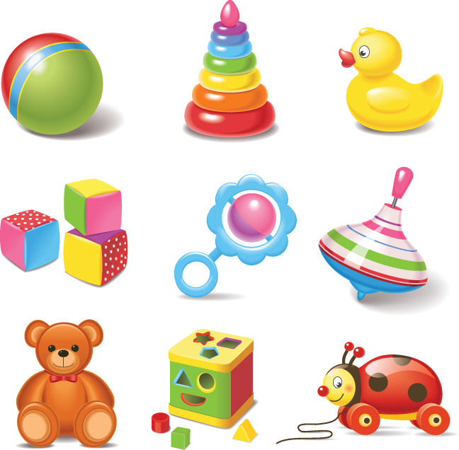 Toys vector different kind. Baby clip art