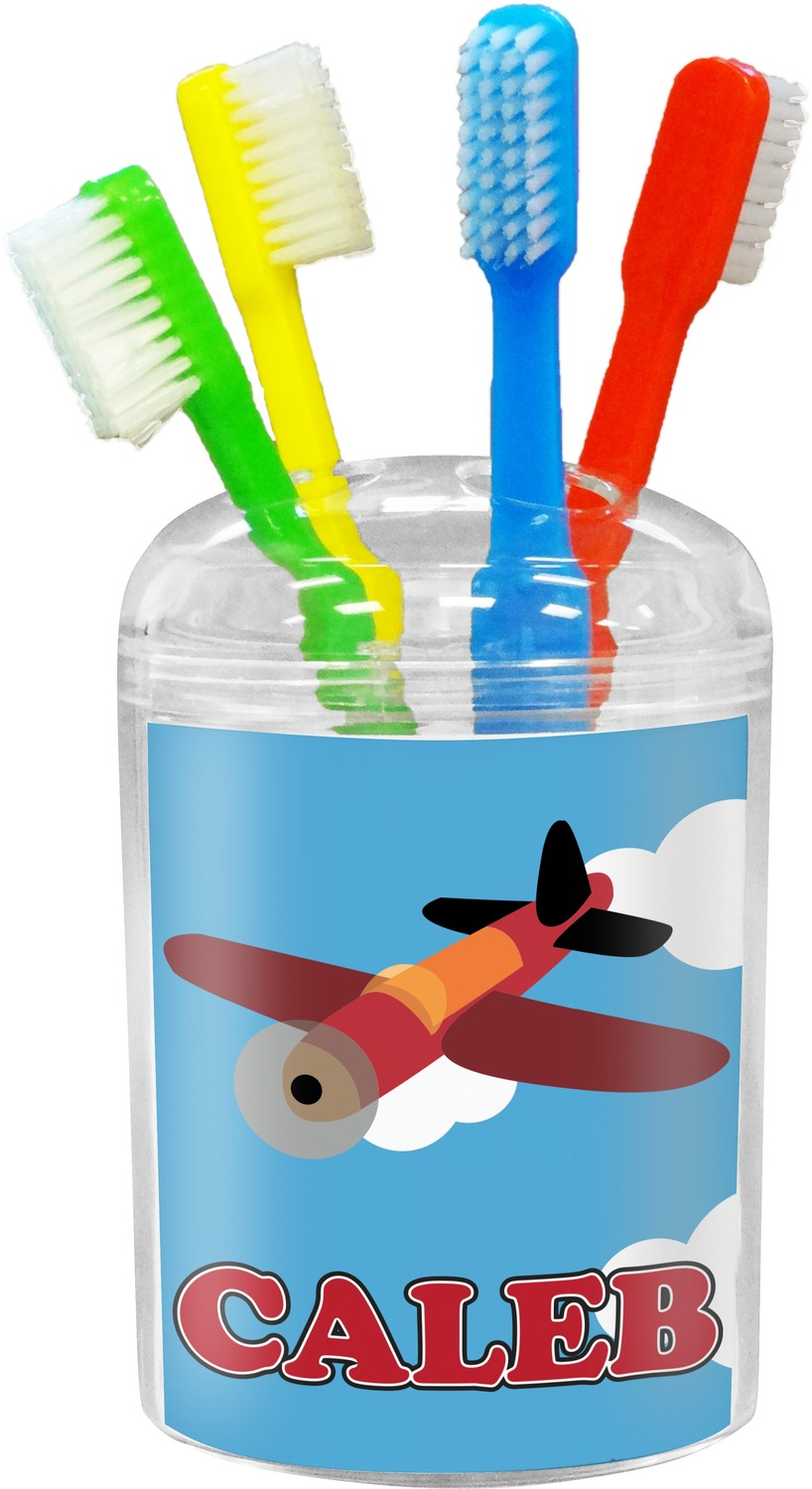Bathroom clipart toothbrush. Airplane holder personalized youcustomizeit