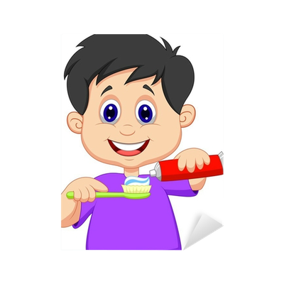 Bathroom clipart toothbrush. Kid squeezing tooth paste