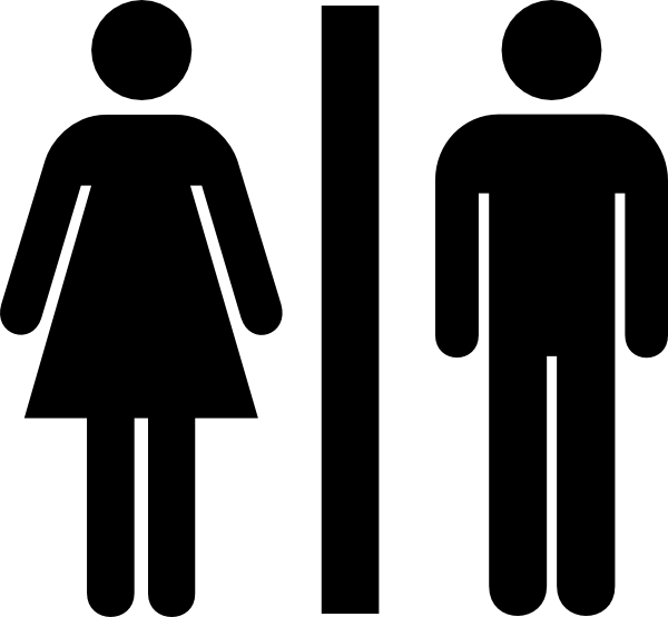 Signs vector female. Male and bathroom clip