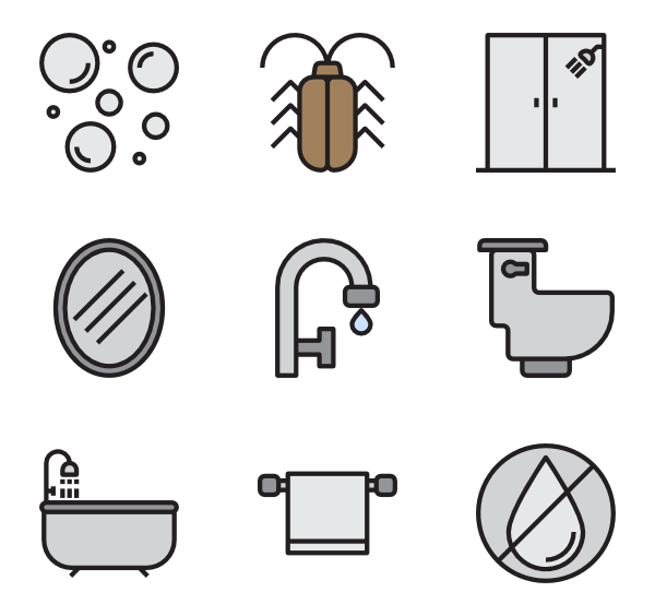 Vector formatting toilet. Icons free home decoration