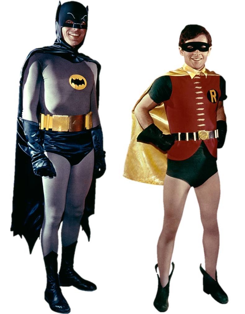Batman and robin png. Transparent background by gasa